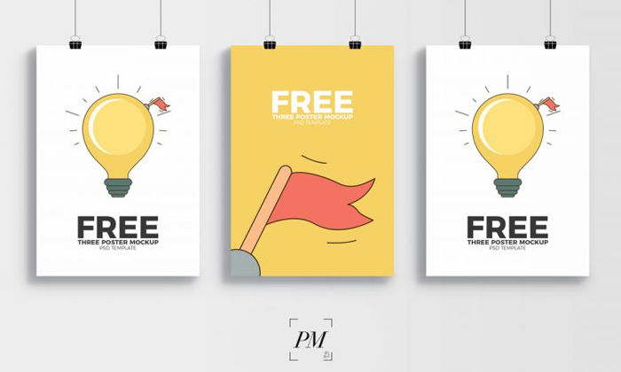 3-Creative-Display-PSD-Template-Poster-Mockup-300