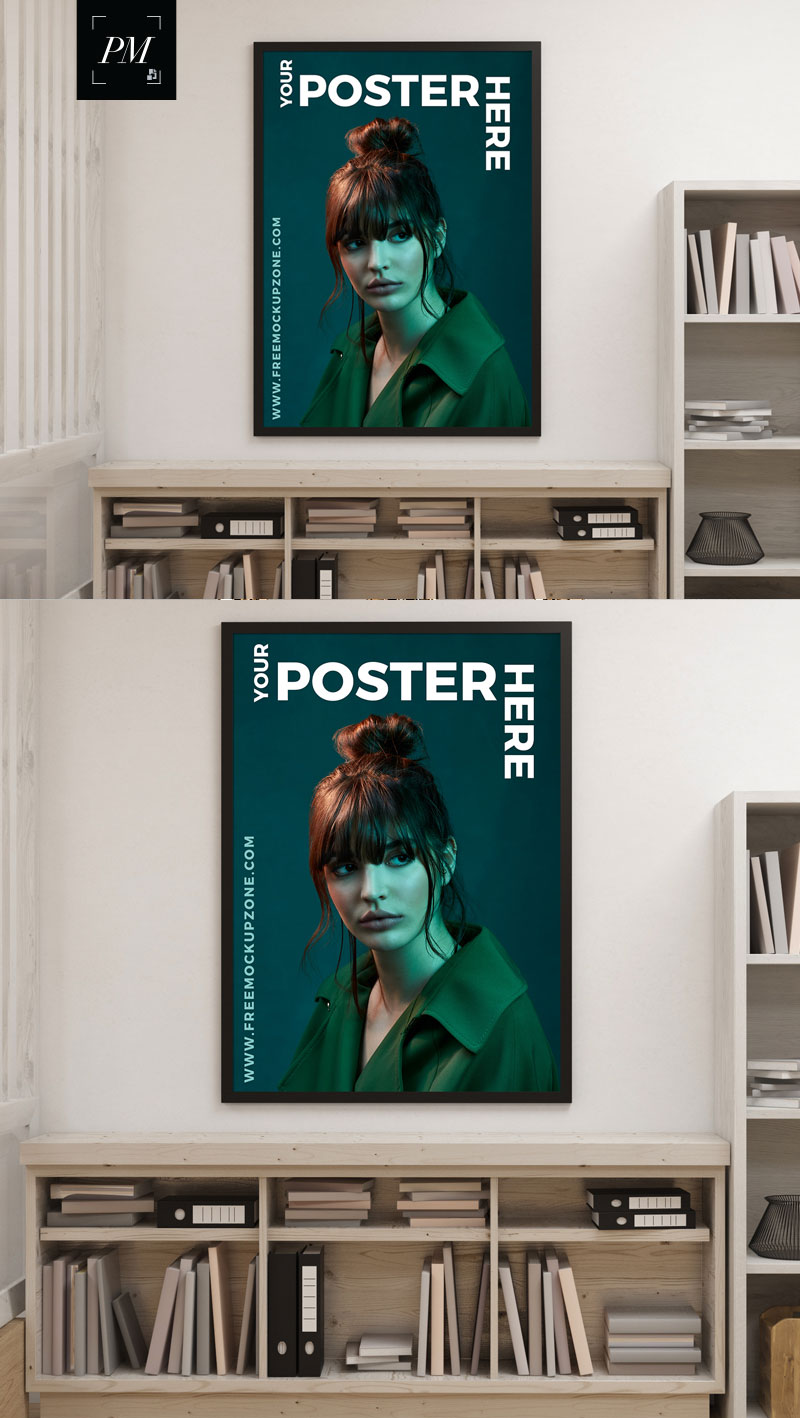 Free-Creative-Interior-Poster-Mockup-For-Designers-2018-600
