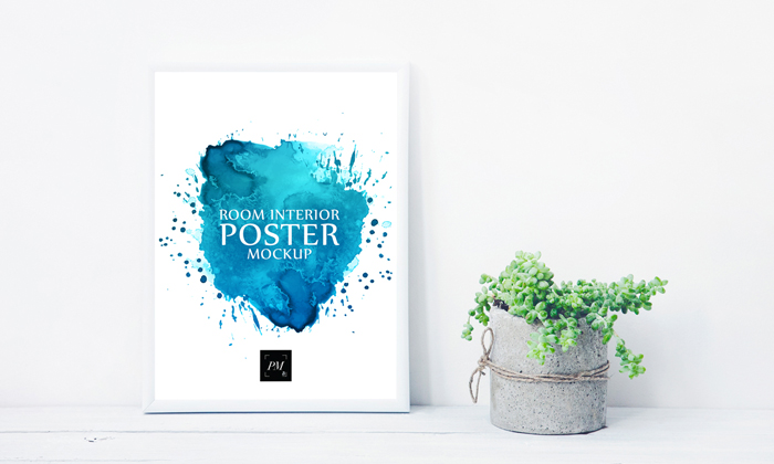 Free-Room-Interior-Poster-With-Concrete-Pot-Mockup-PSD-600
