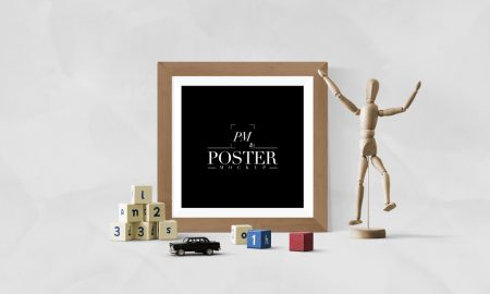 Free-Artistic-Interior-With-Creative-Antique-Square-Poster-Frame-Mockup-PSD