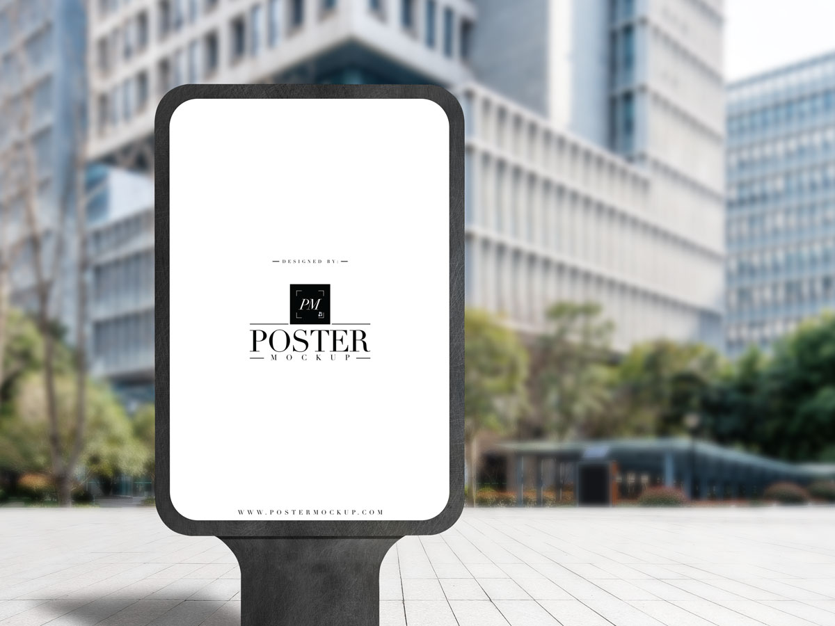 Free-City-Street-Outdoor-Advertisement-Vertical-Poster-Mockup