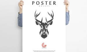 Free-Man-Holding-Advertisement-Poster-Mockup-PSD
