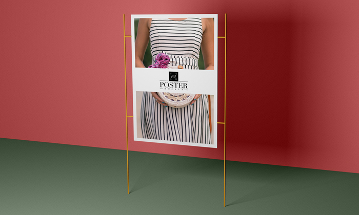 Free-Modern-Advertisement-Poster-Mockup-PSD-With-Stand