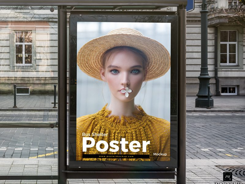 Free-Bus-Shelter-Poster-Mockup-PSD-Template
