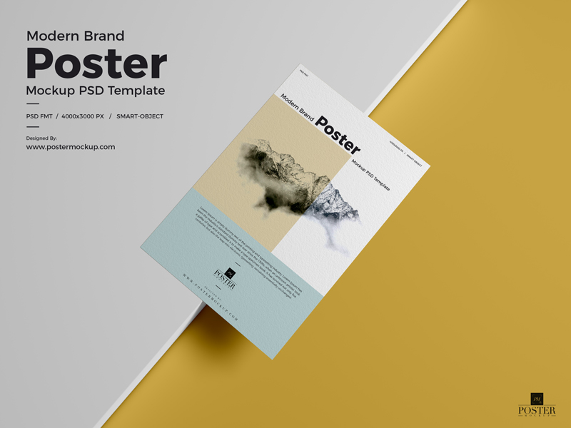 Modern-Brand-Textured-Paper-Poster-Mockup-PSD-Template-2018