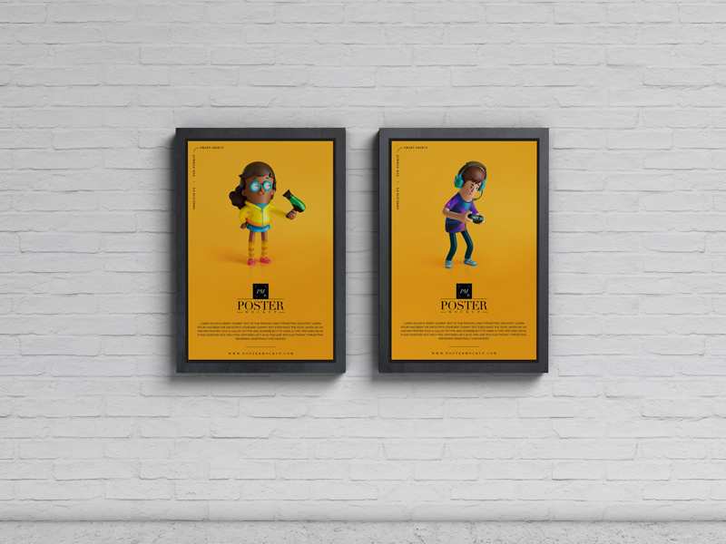Free-Advertisement-Display-Posters-Mockup-PSD