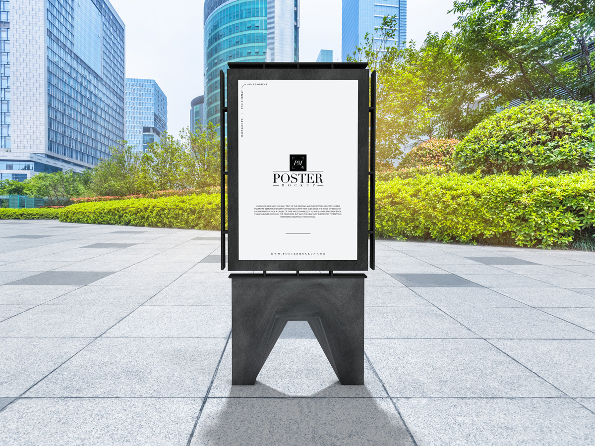 Free-Outdoor-Publicity-Poster-Mockup-PSD-For-Advertisement-2019