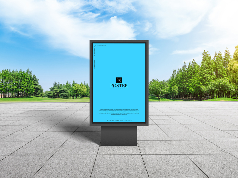 Free-City-Park-Outdoor-Advertisement-Billboard-Poster-Mockup-Design-2019