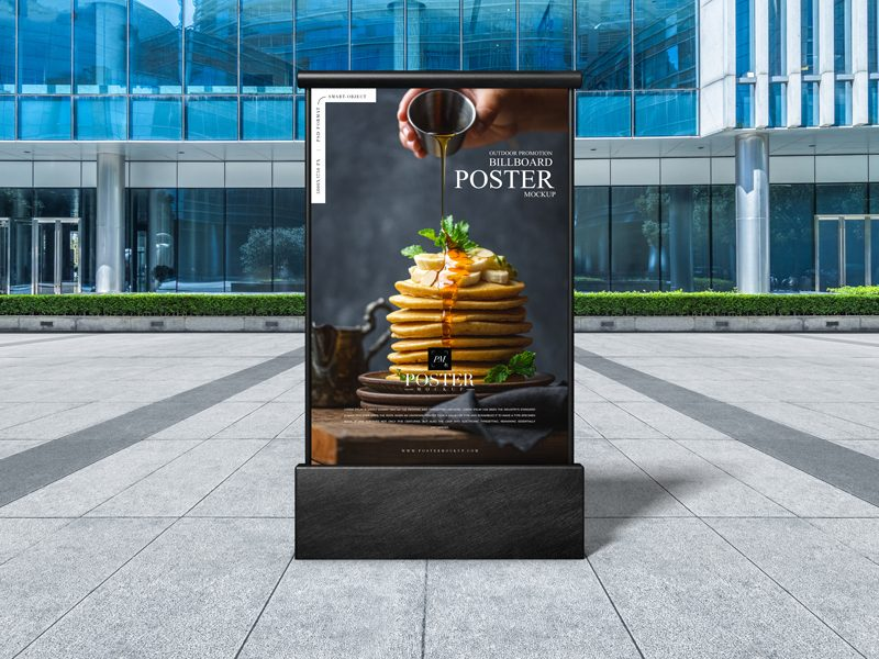 Free-Outdoor-Promotion-Billboard-Poster-Mockup