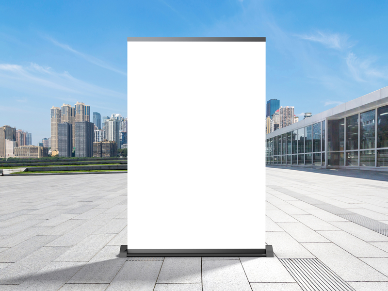 Outdoor-Office-Display-Stand-Advertising-Poster-Mockup