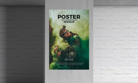 Poster-on-Concrete-Pillar-Mockup