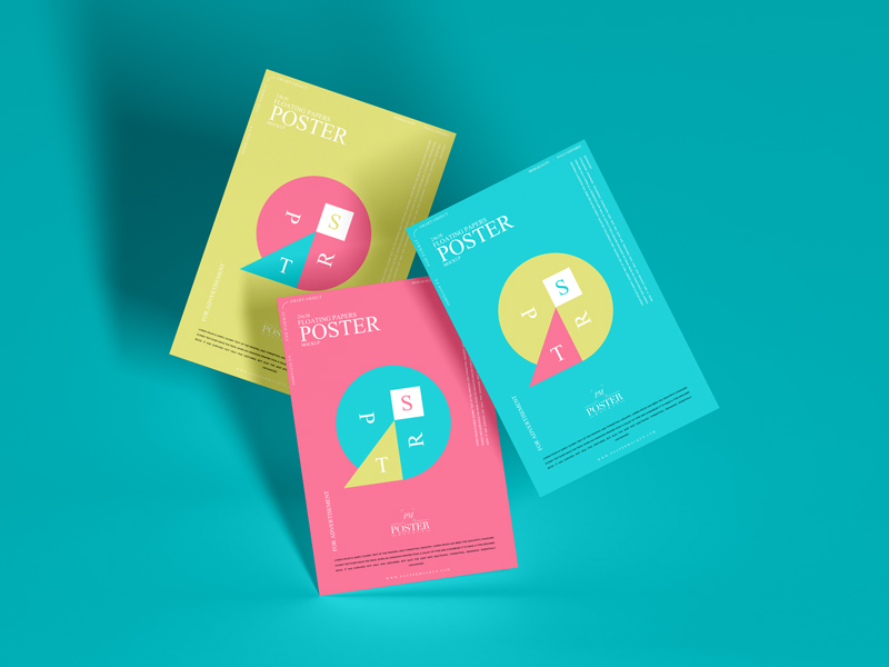 Free-24x36-Floating-Papers-Poster-Mockup