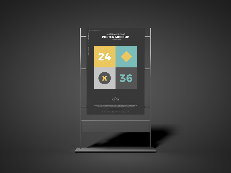 24x36-Framed-Stand-Poster-Mockup-Free