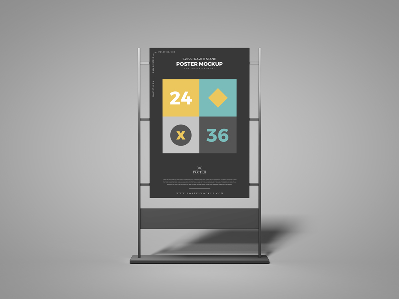 Free-24x36-Framed-Stand-Poster-Mockup