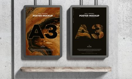A3-Advertising-Wall-Framed-Poster-Mockup