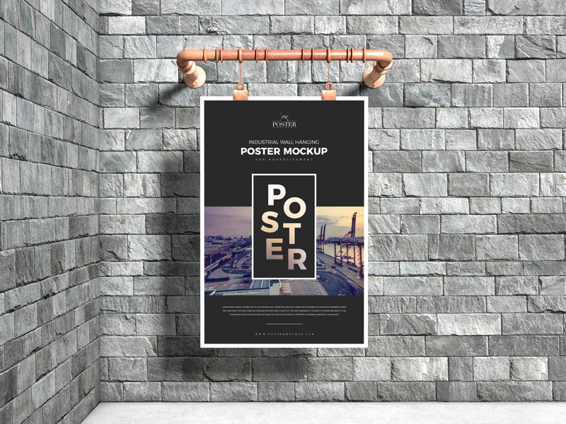 Industrial-Advertising-Wall-Hanging-Poster-Mockup