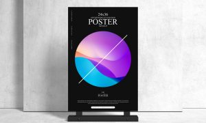 Advertising-Stand-24x36-Sign-Poster-Mockup