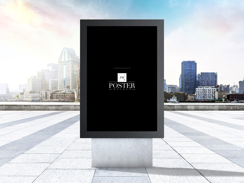 City-Outdoor-Advertisement-Stand-Poster-Mockup-1