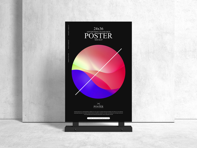 Free-Advertising-Stand-24x36-Sign-Poster-Mockup