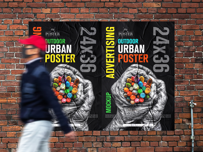 Free-Outdoor-Advertising-24x36-Urban-Poster-Mockup