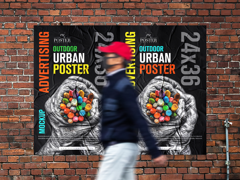 Outdoor-Advertising-24x36-Urban-Poster-Mockup-Free