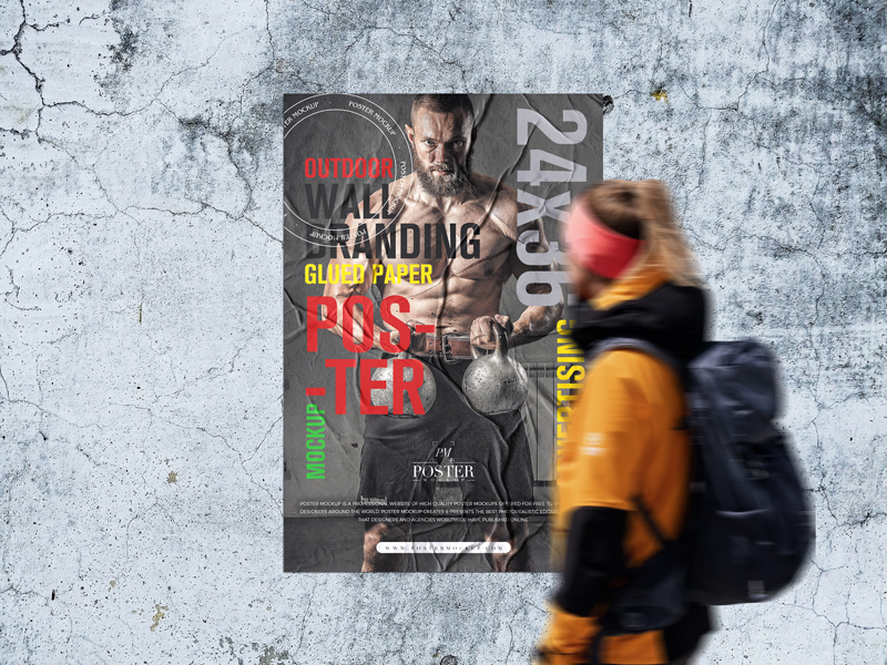 Outdoor-Wall-Branding-24x36-Glued-Paper-Poster-Mockup-Free