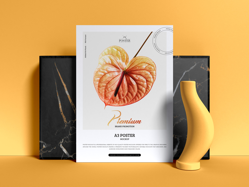Free-Premium-Brand-Promotion-A3-Poster-Mockup