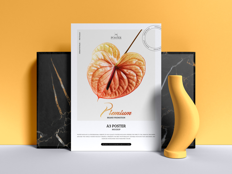 Premium-Brand-Promotion-A3-Poster-Mockup-Free