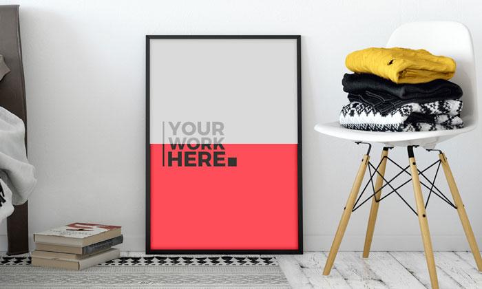 Designer-Room-Standing-Poster-Frame-Mockup-PSD-300