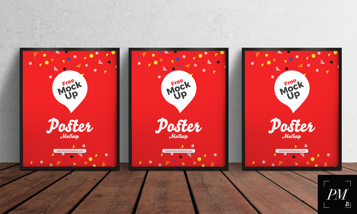 Free-3-PSD-Posters-on-Wooden-Floor-Mockup-600