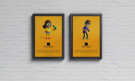 Free-Advertisement-Display-Posters-Mockup-PSD