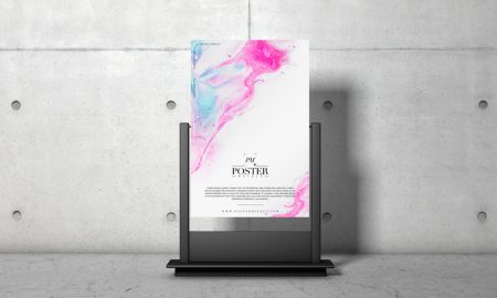 Free-Advertising-Stand-PSD-Poster-Mockup