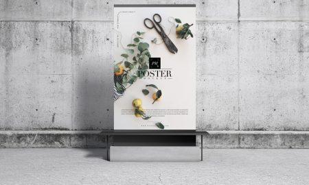 Free-Concrete-Environment-Display-Poster-Mockup