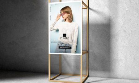 Free-Wooden-Frame-Poster-Mockup