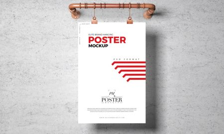 Free-Elite-Brand-Hanging-Poster-Mockup
