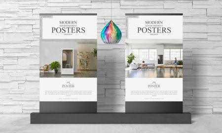 Free-Modern-Advertisement-Posters-Mockup