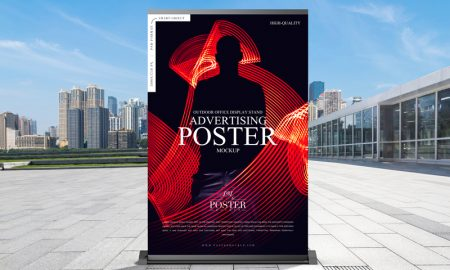 Free-Outdoor-Office-Display-Stand-Advertising-Poster-Mockup