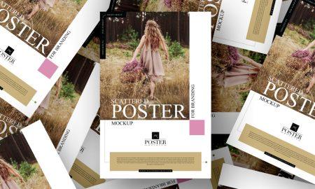 Free-Scattered-Poster-Mockup-For-Branding