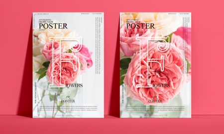 Free-Advertising-Front-View-Poster-Mockup