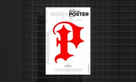 Free-Top-View-Branding-Poster-Mockup