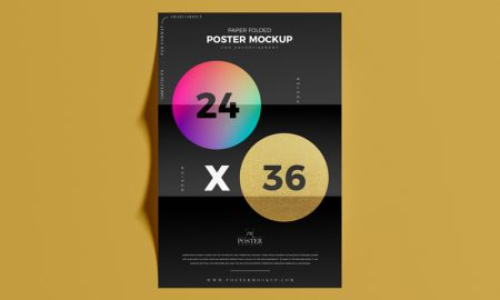 Paper-Folded-24x36-Poster-Mockup-PSD