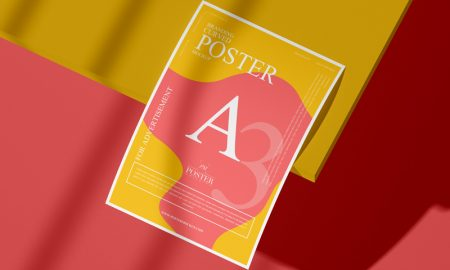 Branding-A3-Curved-Poster-Mockup