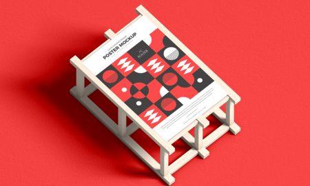 24x36-Poster-Placing-on-Wooden-Frame-Mockup