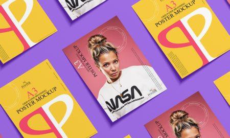 Grid-A3-Paper-Branding-Poster-Mockup