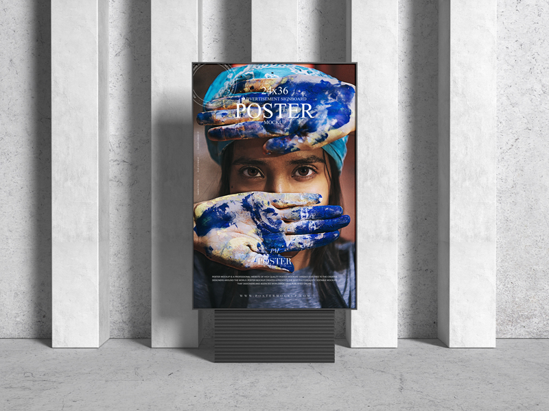 Brand-Advertisement-Signboard-24x36-Poster-Mockup
